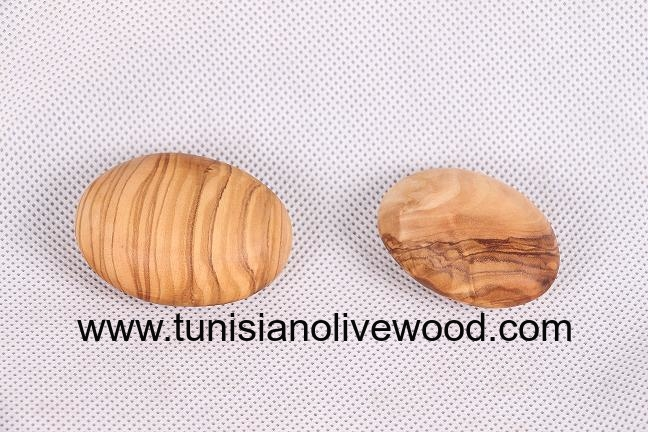 Olive wood Kidney Shaped Stress Ball