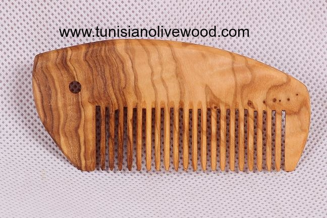 Olive wood combs - Pig Shape
