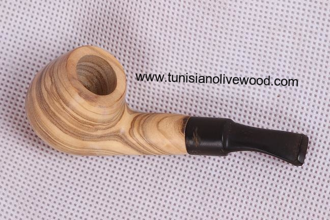 Natural olive wood Smoke Pipe