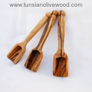 hand crafted olive wood salt/coffee scoop  from Tunisia