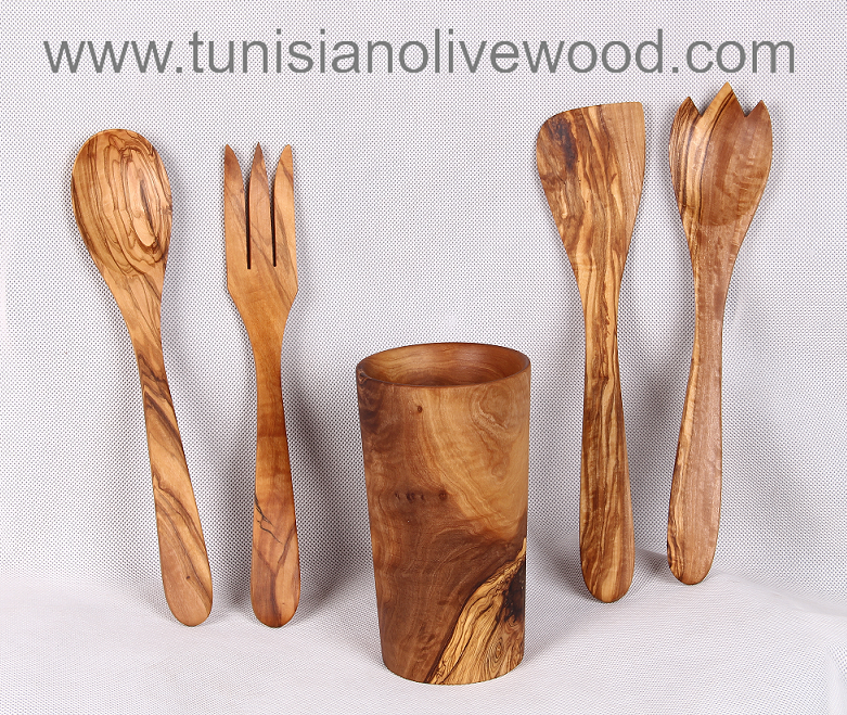 Olive wood utensils –Salad Server