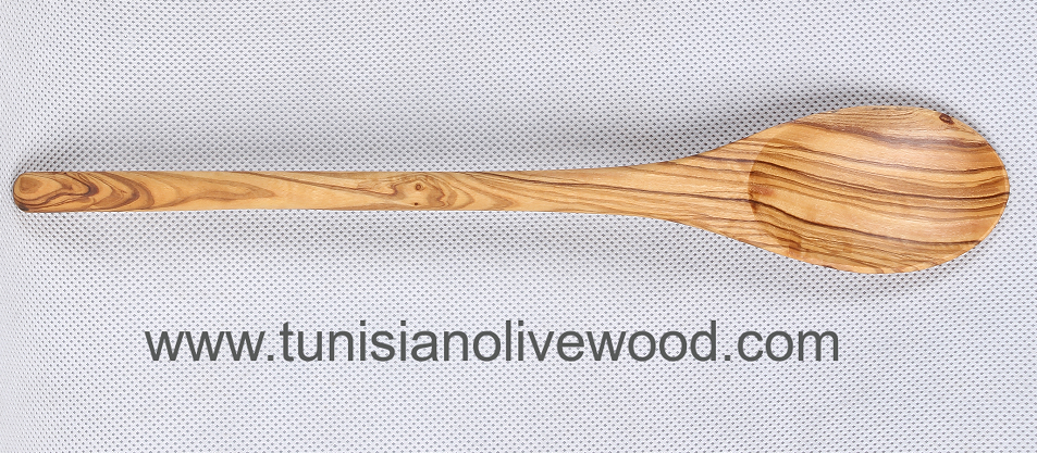Tunisian Olive Wood Spoon with round handle