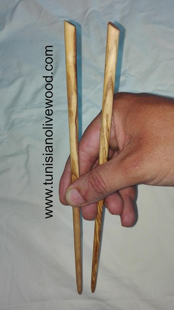 Olivewood Chopsticks (Cut End shape)