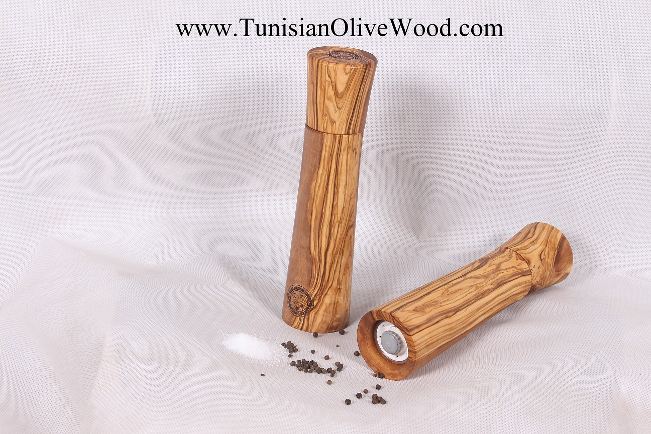 Olive Wood Pepper & Salt Mills