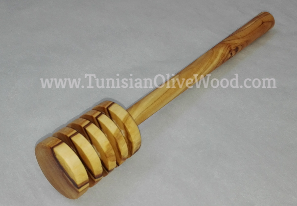 Tunisian Olive Wood Honey Dipper