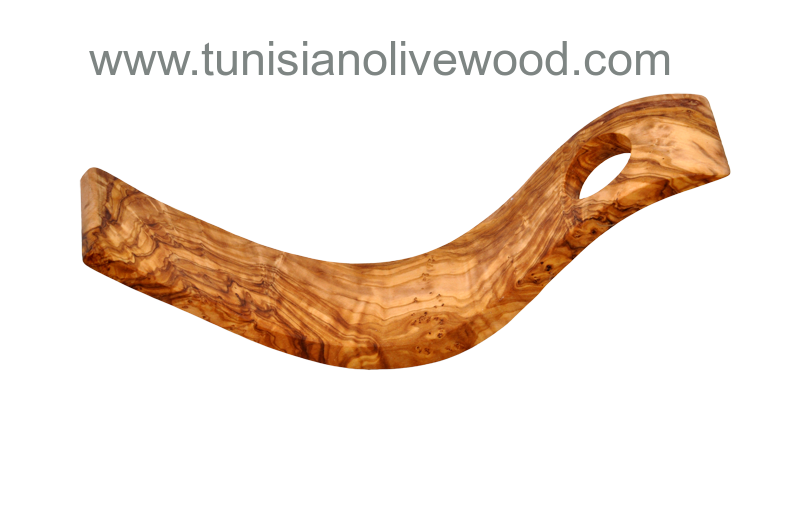 Olive Wood Bottle Holder Hand-carved in Tunisia