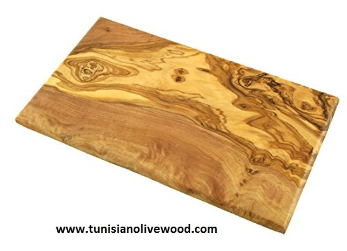 Rectangular Handmade Olive Wood Serving Board