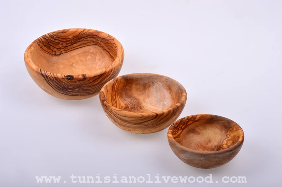 Olive wood Bowls from Tunisia