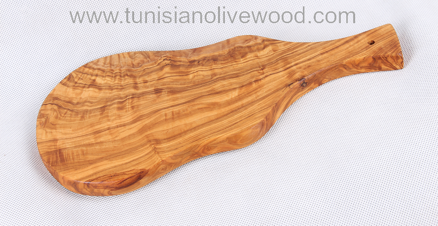Tunisian olive wood chopping boards with handle