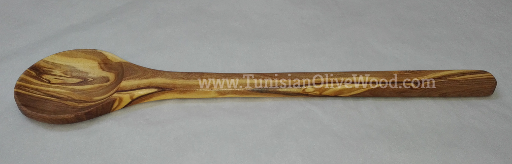 Olivewood Soup & Cooking Spoon with Round Head