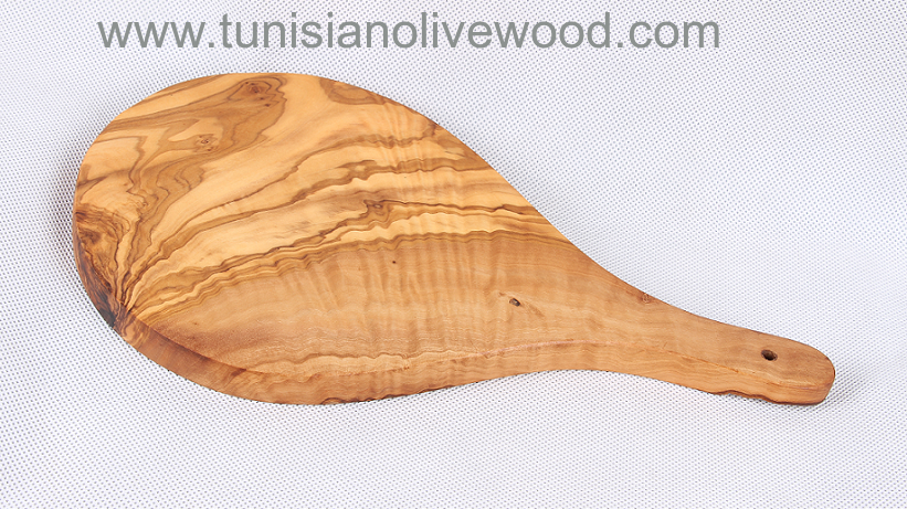 olive wood Cutting /chopping board with racket shape