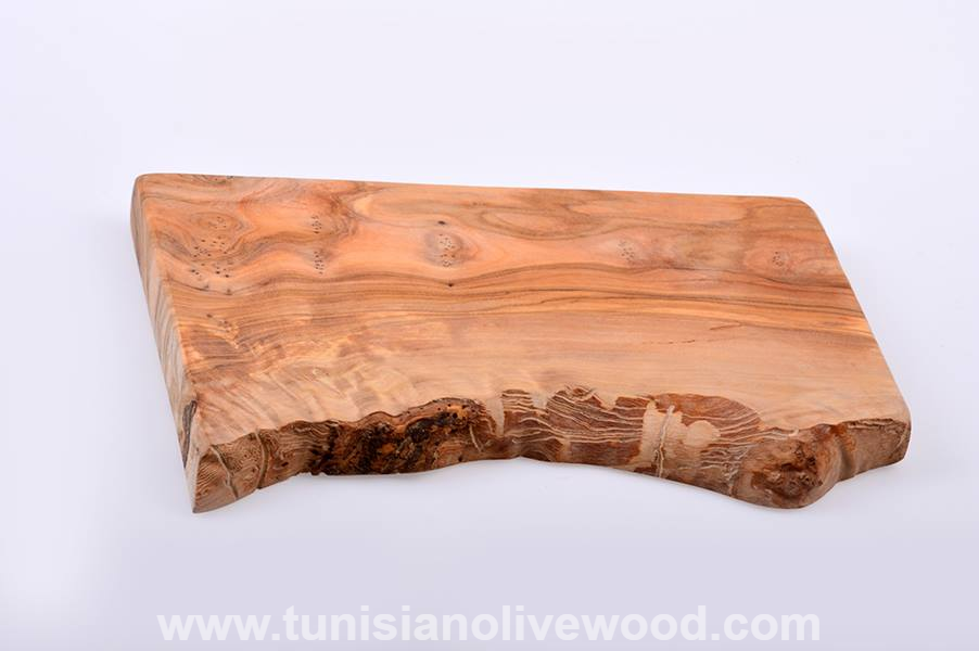 Rustic Rectangular Handcrafted Olive Wood Cheese Bread Cutting Board